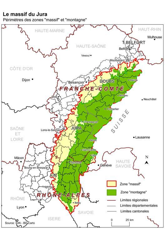 massif du jura carte massif du jura carte Archives   Voyages   Cartes