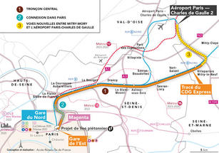 Carte CDG Express