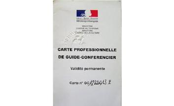carte de guide conférencier Carte professionnelle de guide conférencier | La préfecture et les