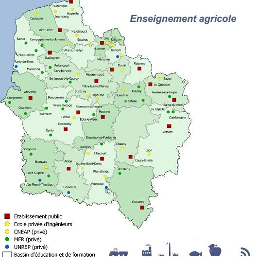 L 39 enseignement agricole dans le nord pas de calais for Chambre d agriculture nord pas de calais